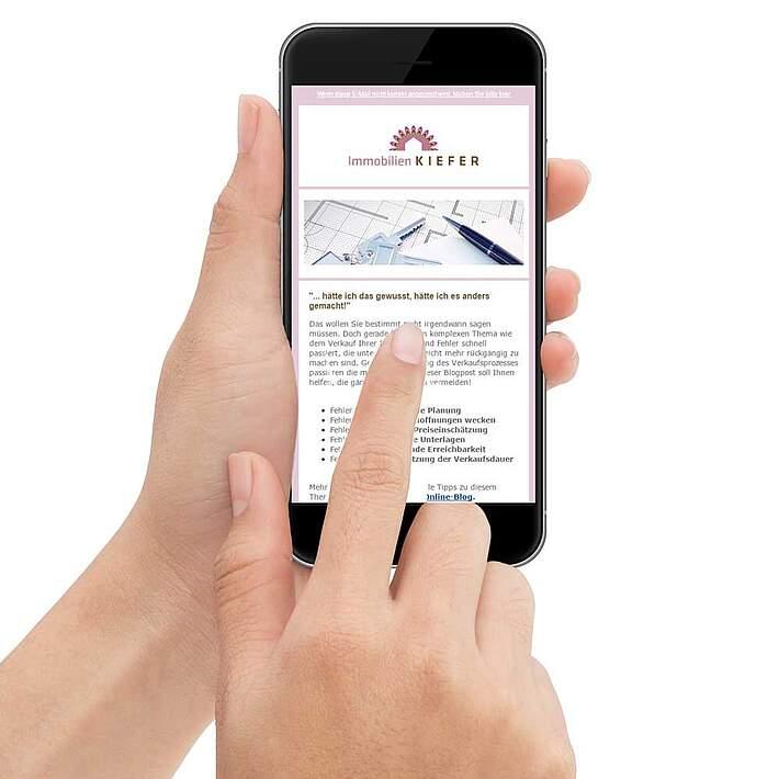 responsive E-Mail-Newsletter Immobilien Kiefe   Herber-Herber