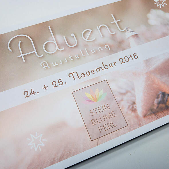 Flyer Adventsausstellung 2018 Steinblume
