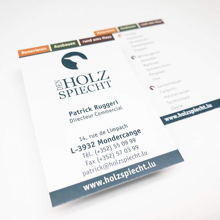 Visitenkarte Holzspiecht Herber Herber